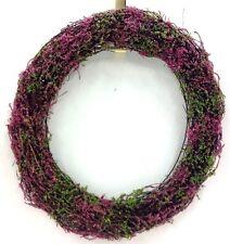 """Vine Heather Wreath. Wire Frame. Pink. 15"""". Artificial"""
