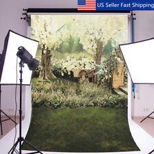 5x7ft Tree Floral Grass Vinyl Photography Background Studio Photo Prop  US CA