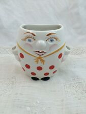 LORD NELSON Pottery Wall Pocket Spoon Holder? RED POLKA DOTS 89A
