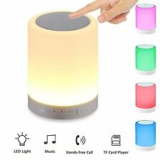 Portable Wireless Touch Control Night Light With Bluetooth Speaker RGB LED Lamp