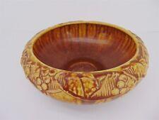 "Rookwood Pottery 1927 Harvest Brown Yellow Grape Vine Glazed 9"" BOWL 2168"