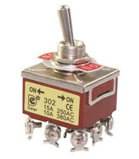 3PDT ON/ON 9 Pin Screw Terminals Latching Toggle Switch K302  20 amp @ 125 VAC