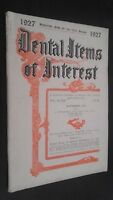 Revista Dental Items de Interes N º 14 Noviembre 1926 ABE