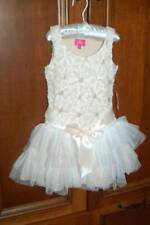 New Special Occasion Dress by PINKY Girl's size 5 Ruffle Tulle Flower Champagne