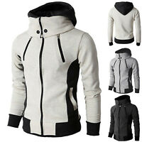 Mens Hooded Hoodie Zipper Coat Winter Slim Fit Sweatshirts Creed Jacket Outwear