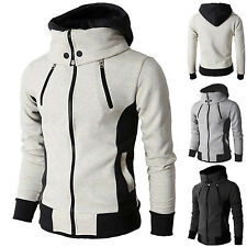 Mens Winter Warm Hoodie Thermal Coat Jacket Hooded Sweatshirt Zipper Outwear AU