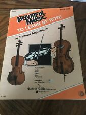 Beautiful Music To Learn By Rote Book 1 For Viola