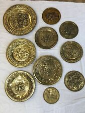 10 copper plates marked Made in England PPS
