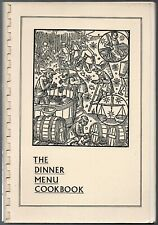 1974 1st edition of The Dinner Menu Cookbook by Farrow , Hawkins &  Kelleher