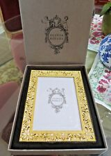 "Olivia Riegel Gold Windsor Crystal 5"" x 7"" Photo Frame  NEW! In Box!"