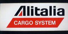 ALITALIA CARGO airline vintage promotion sticker memorabilia air baggage tag aa