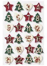 ADVENTSKALENDER numeri 1-24 rosso verde crema feltro feltro numeri STELLA-ALBERO vescicole