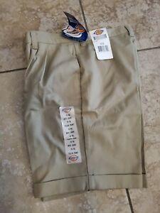 Dickies Boys Shorts Size 16 RG School Uniform Plain Front