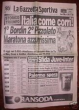 Gazzetta dello sport 1986 BORDIN PIZZOLATO PANETTA Roma