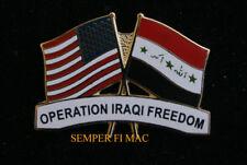 OPERATION IRAQI FREEDOM HAT LAPEL PIN UP OIF WAR USA IRAQ FLAG US VETERAN GIFT