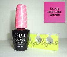 OPI GelColor Hotter Than You Pink GC N36 Soak Off LED/UV Gel Polish .5oz + BONUS