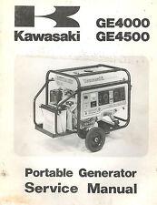 KAWASAKI GE4000,GE4500 GENERATORS  SERVICE  MANUAL