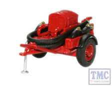 76CCP003 Oxford Diecast 1:76 Scale OO Gauge Red Coventry Climax Pump Trailer