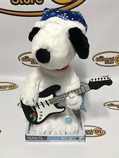 """NEW Peanuts Christmas Moving Snoopy Large 15"""" Plush Toy Music Box NIB"""