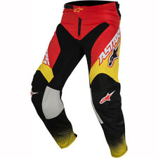 Motorcycle Alpinestars Racer Supermatic Pants - Red Black Yellow UK SELLER Men/uni XL 8051194973542