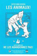 TINTIN - Flyer Chaîne bleue 2001 - Ed. Moulinsart.