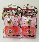 Mossy Oak Camouflage Orthodontic Pacifier BPA Free Lot of 2 Pink/Red 0-6M