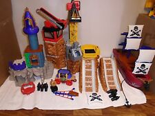 HUGE  LOT  OF  FISHER  PRICE  IMAGINEXT  CASTLES,  SHIPS, CONSTRUCTION  SITE