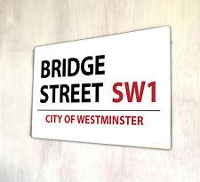Bridge street segno di Londra A4 IN METALLO PLACCA DECOR PICTURE