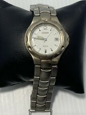 Citizen 2510 Men's Stainless Steel Watch White Dial Date Silver Tone WR50M Parts
