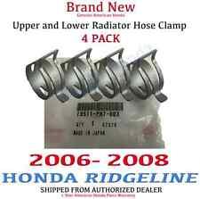 2006 - 2008 Honda RIDGELINE Genuine OEM Honda Radiator Hose Clamp Kit Set of 4