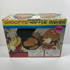 Salton SNOOPY Waffle Maker - New Open Box, Never Used, All Paperwork Included