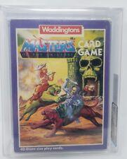 1985 MASTERS UNIVERSE VINTAGE 40 GIANT SIZE CARD GAME AFA GRADED 75Q-EX+/NM MOTU