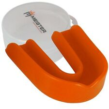 CUSTOM ORANGE SINGLE MOUTH GUARD w/ CASE - Meister MMA Gum Shield Piece MOLDABLE