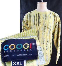 COOGI yellow XXL 2XL bill cosby sweater australia hip hop vtg vintage 90s wave