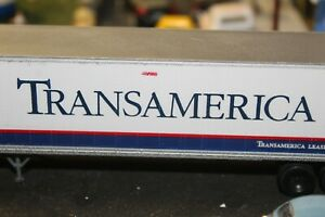 Transamerica  R.R. PIGGYBACK  SEMI TRAILER 1/87 ho BUILT ATHEARN 48ft.