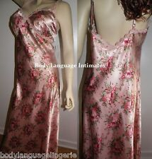 ~SALE~ 6X peach floral SATIN LONG NIGHTGOWN NIGHTDRESS  LINGERIE PLUS SIZE 6X