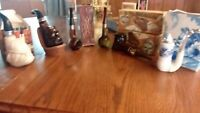 vintage avon pipe decanters lot