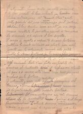 LETTERA CON APPUNTI SU SPOSTAMENTO FONTANA A ONZO PER CAMPO PALLONE G.I.L C6-771