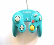 Official Genuine Original Nintendo GameCube Wired Controller Emerald Blue