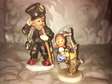 Goebel Hummel Apple Tree Girl 141 3/0 and a Friedel Chimney Sweep Boy Figure