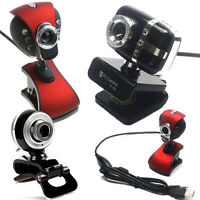 USB 2.0 50MP Mega HD Webcam Camera Web Cam with MIC & Clip for Desktop Laptop PC