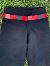 Lululemon Red Ruby Border Wide Leg Jazz Dance Yoga Exercise Pants Sz 2 ��sj7m26