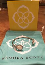 Kendra Scott Andy Silver Adjustable Cuff Bracelet With Pearl Stones