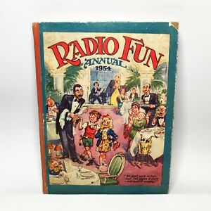 RADIO FUN ANNUAL 1954 British Book of Comics & Fun  Vintage Hardback England