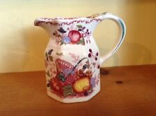 Vintage Mason England Ironstone fruit basket pitcher 1935-36 red cranberry
