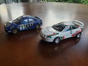 SCX 1/32 Slot Cars Toyota Celica & Subaru