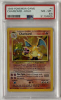 PSA 8.5 CHARIZARD 1999 Pokemon Base Unlimited #4/102 Holo Non-Shadowless NM-MT+