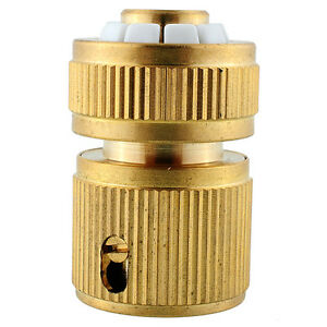 Brass Hose Pipe Fitting Garden Tap Hosepipe Quick Connectors Water Tap Conn F5X2