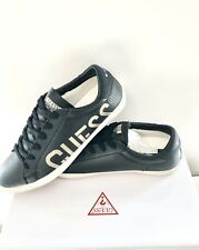 GUESS Black Logo Sneakers, Size 9 EU 43 Men's Trainers Casual Shoes New In Box