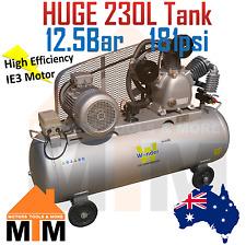 Commercial 10HP 415v 3 Phase Air Compressor HIGH PRESS 12 BAR MASSIVE 230L TANK